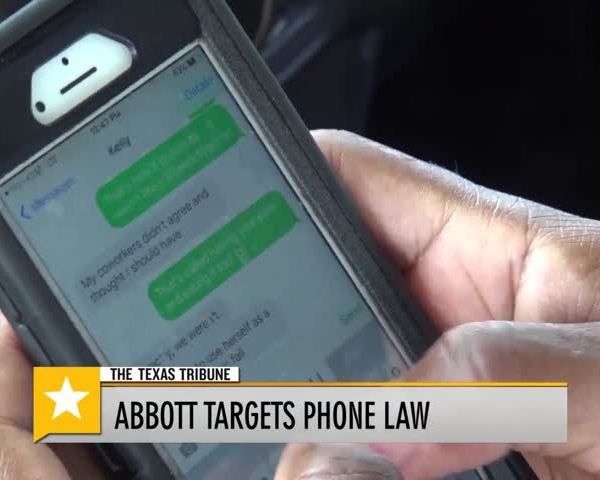 Governor Abbott Targets Cell Phone Law_38661906