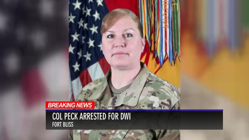 Fort Bliss Commander Arrested for DWI_18458768