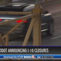 TXDOT announced I-10 closures