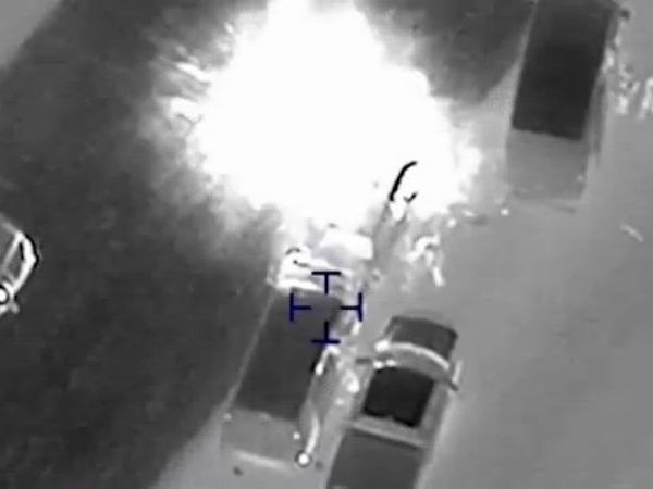 The explosion that killed Mark Conditt on the I-35 service road in Round Rock on March 20, 2018-846655081