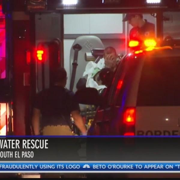 Water rescue in South El Paso