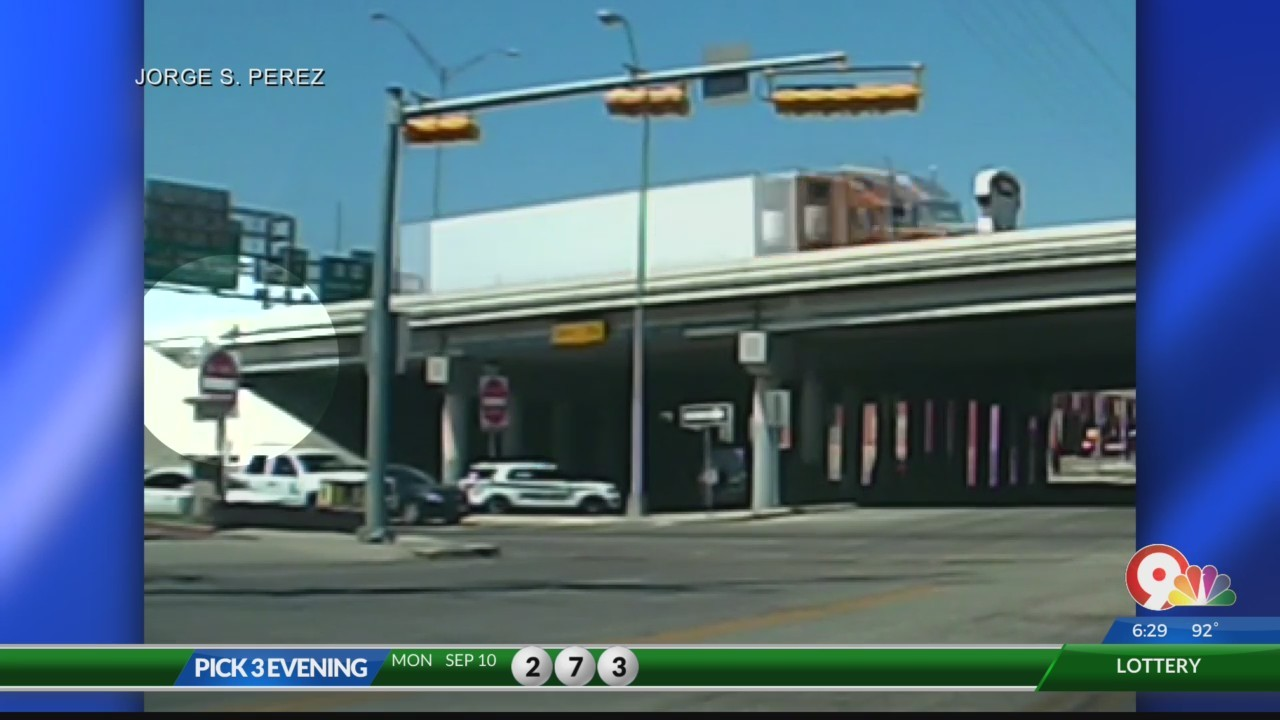 Car crashes into Trowbridge underpass pillar following chase with El Paso ISD Police