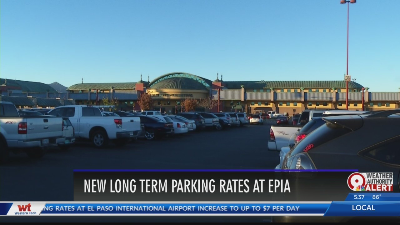 New airport parking fees