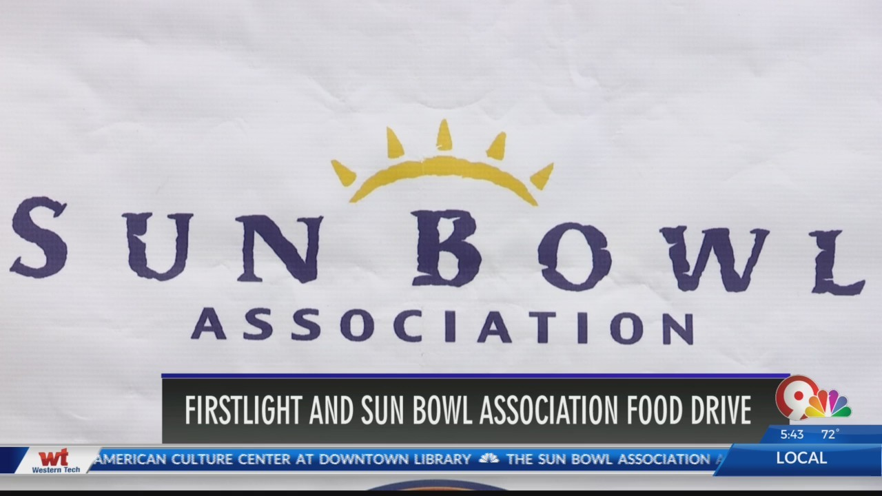 Sun Bowl Association kicks off food drive in El Paso, Las Cruces