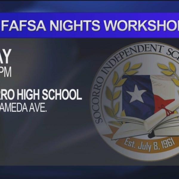 FAFSA night at Socorro High School