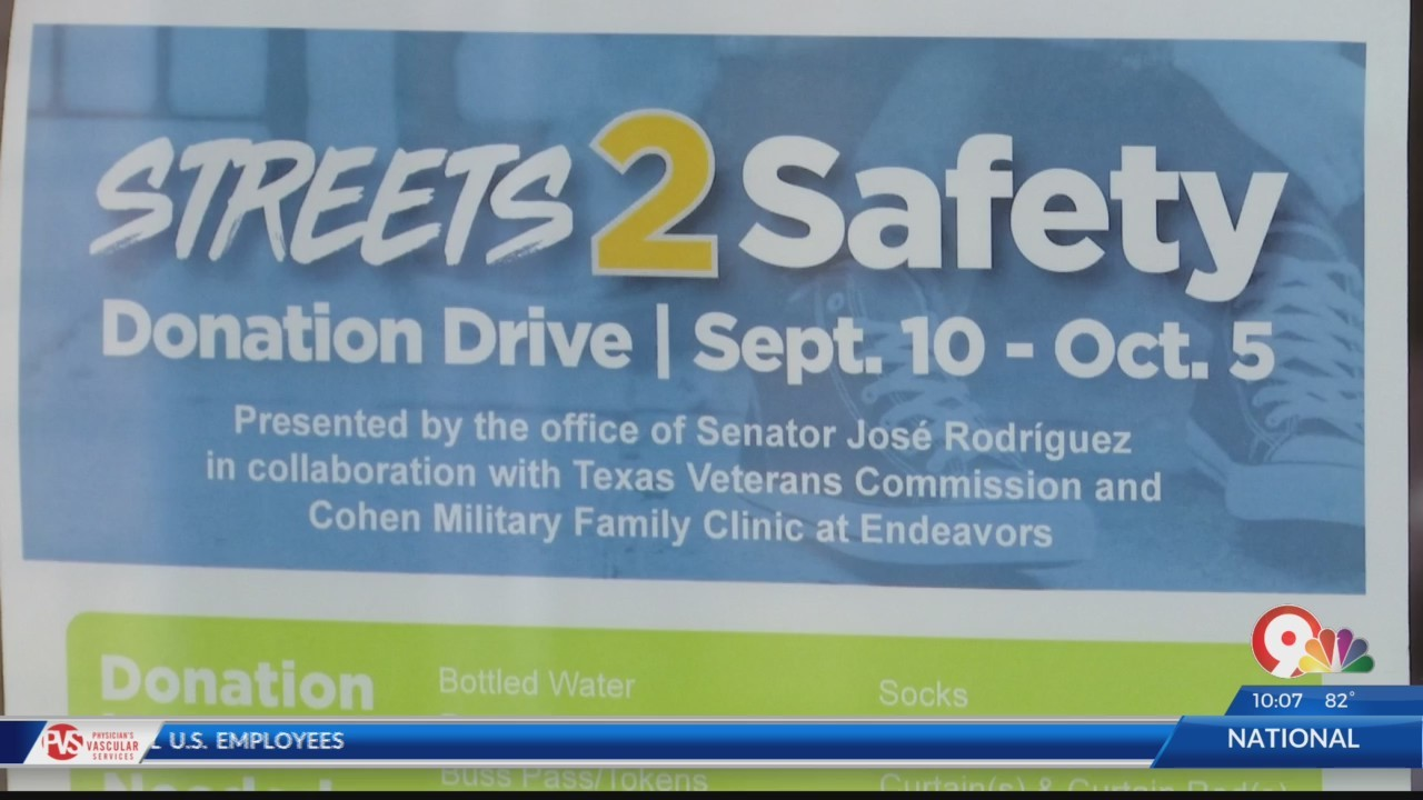 Streets to Safety Donation Drive