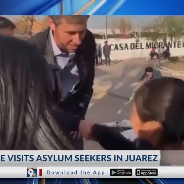 El Paso Congressman met with families seeking asylum in Juarez