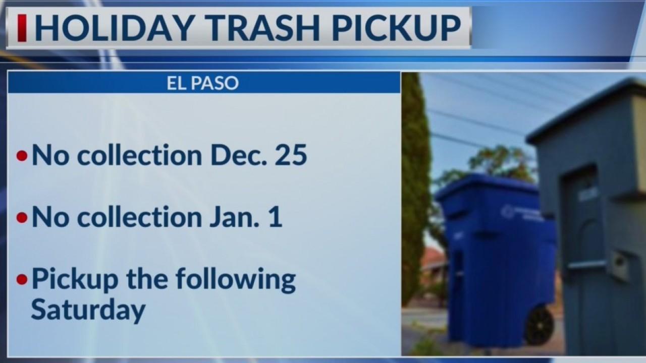 Holiday trash pickup changes