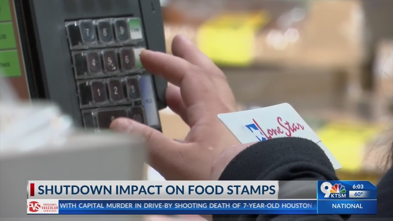 Shutdown impact on food stamps in El Paso