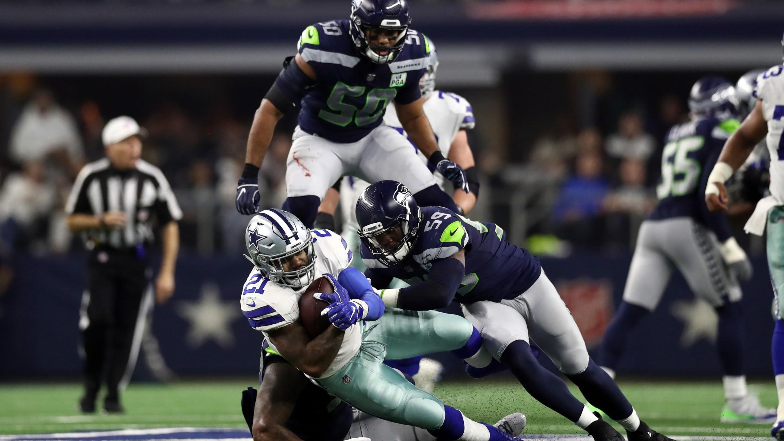 Dallas vs Seattle 2019 wildcard playoff Getty