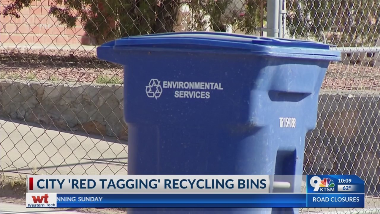 City red tagging recycling bins