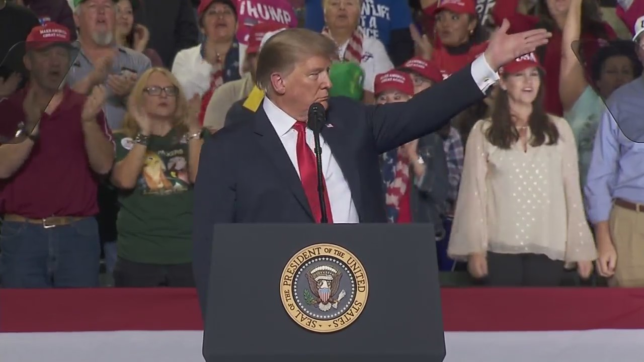 President Trump says Beto O'rouke's rally was nothing compared to his own