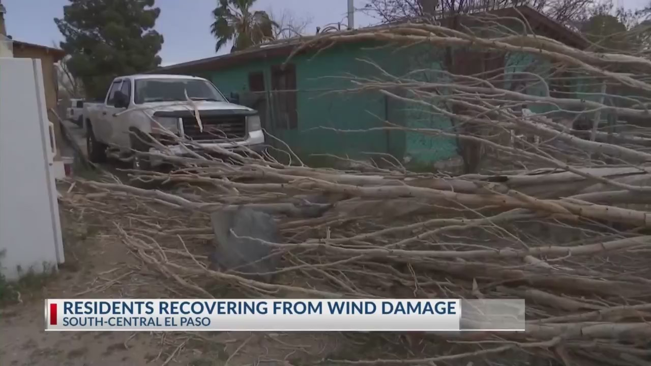 High winds cause damage to El Pasoan's property in South-Central