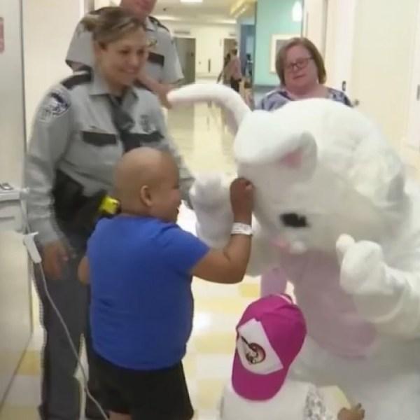 Easter Bunny hops into El Paso Children's Hospital