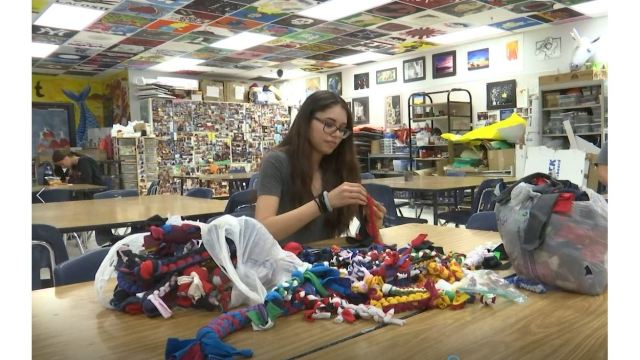El Dorado High School students turn trash into art