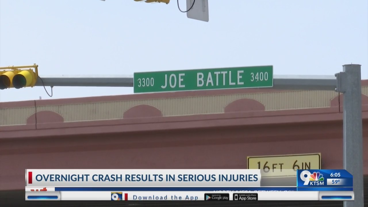 Serious car crash in East El Paso on Saturday.