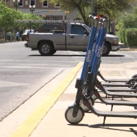 Downtown scooters