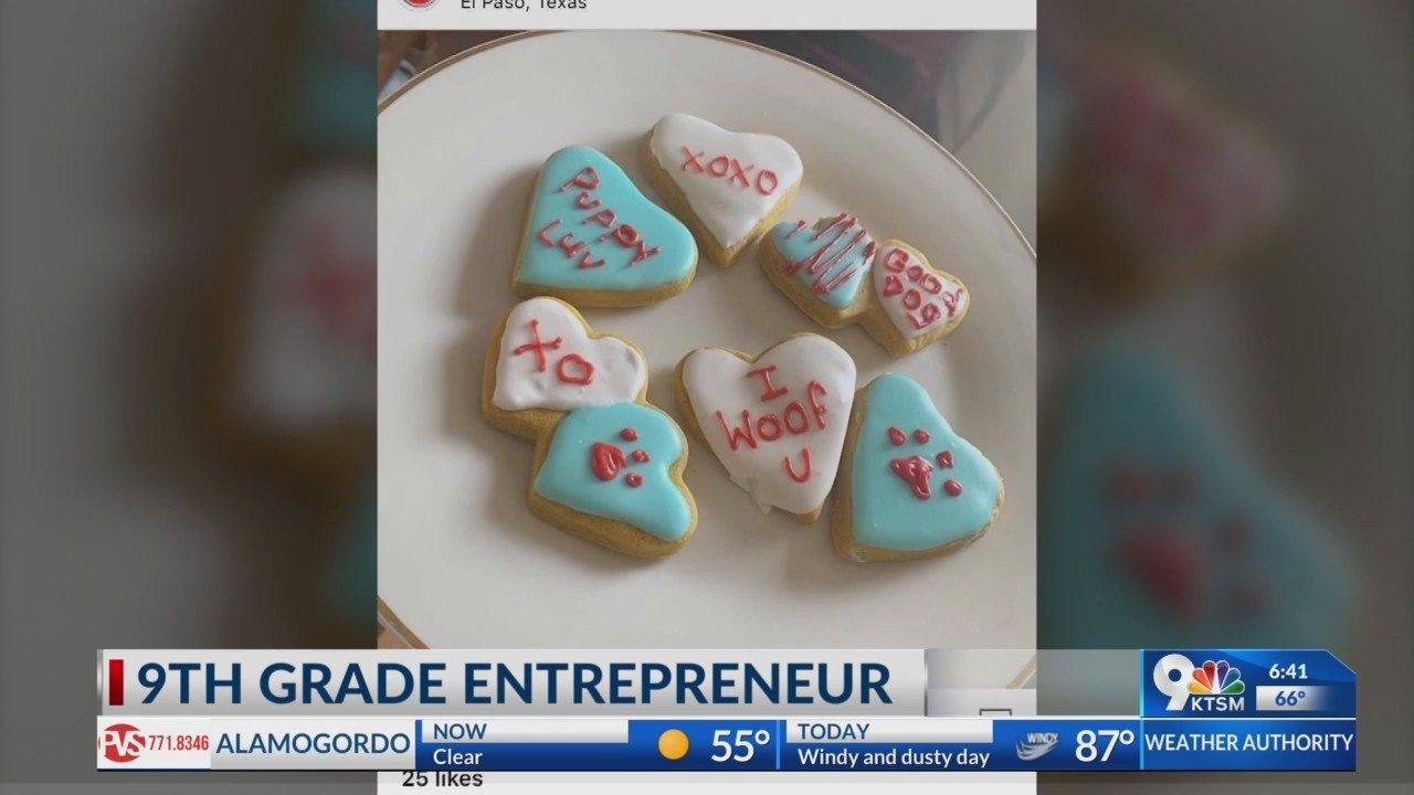 9th grade El Paso girl has her own homemade dog treat business