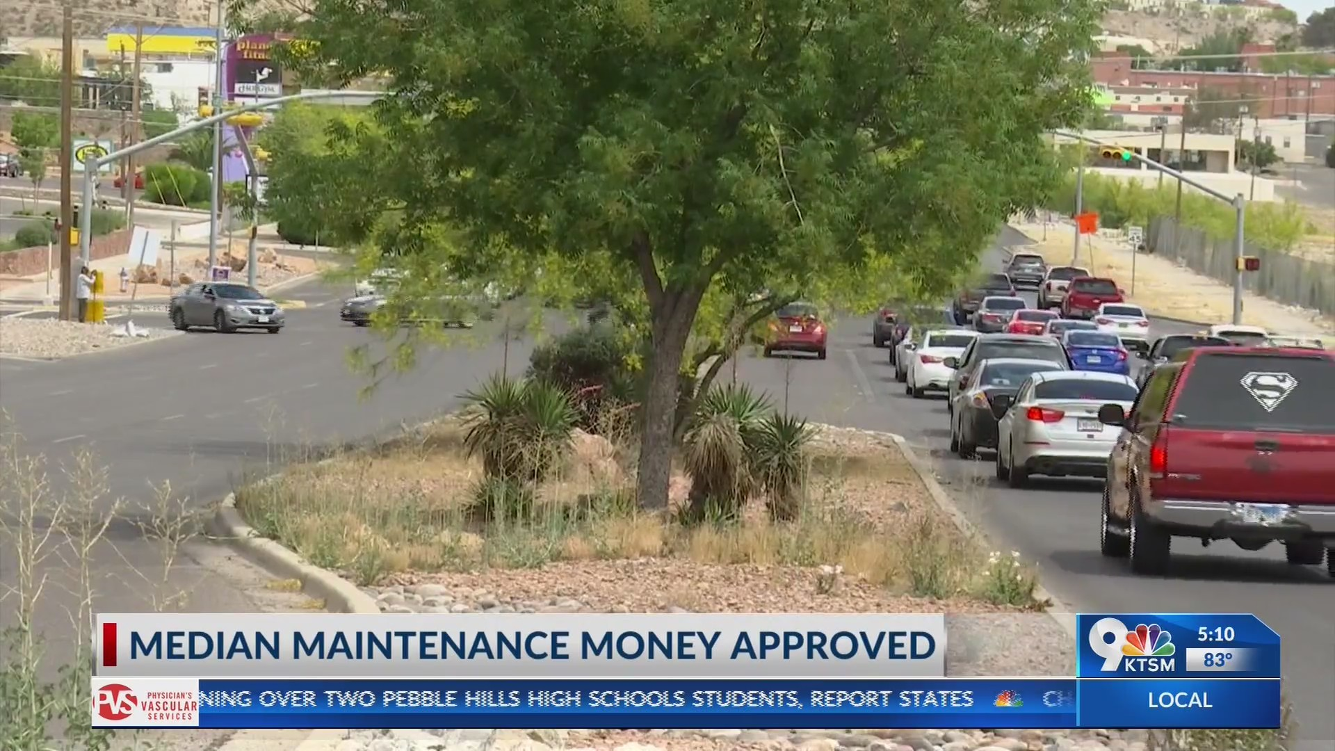 City of El Paso and TxDOT approve funding for median maitenance