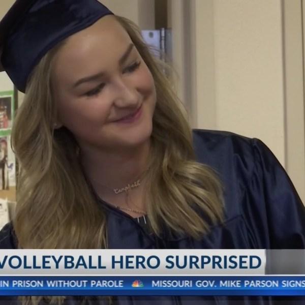 Community surprises local volleyball hero