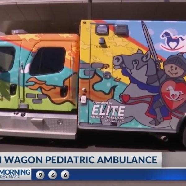 "First of its kind ambulance or ""Dragon Wagon"""