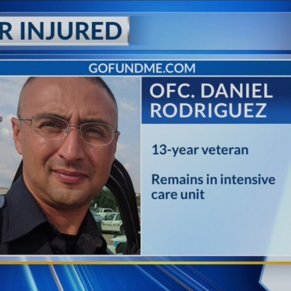 GoFundMe created for officer injured in funeral procession crash