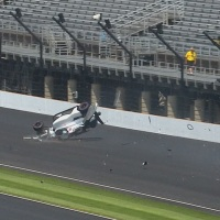 Kaiser crashes in turn 3 during practice at IMS