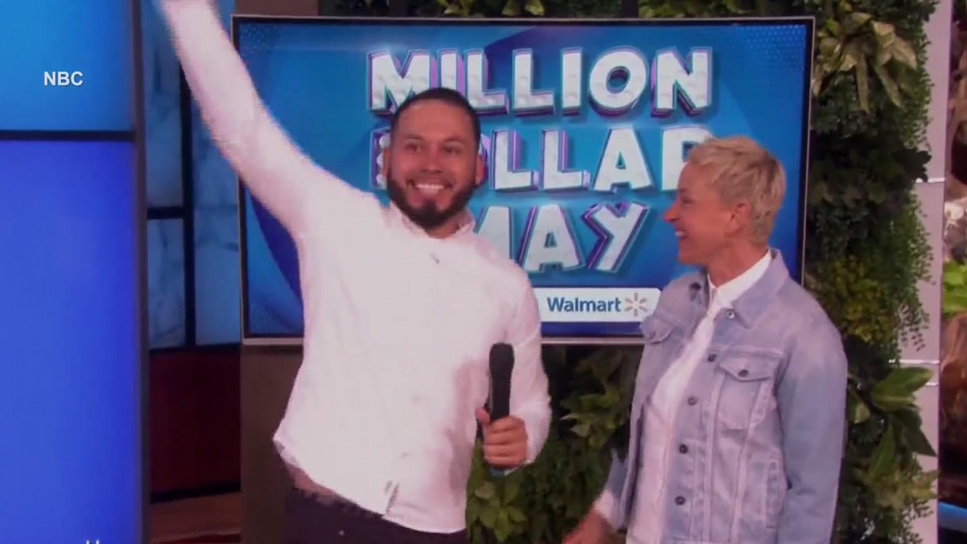 Local teacher wins big on Ellen show
