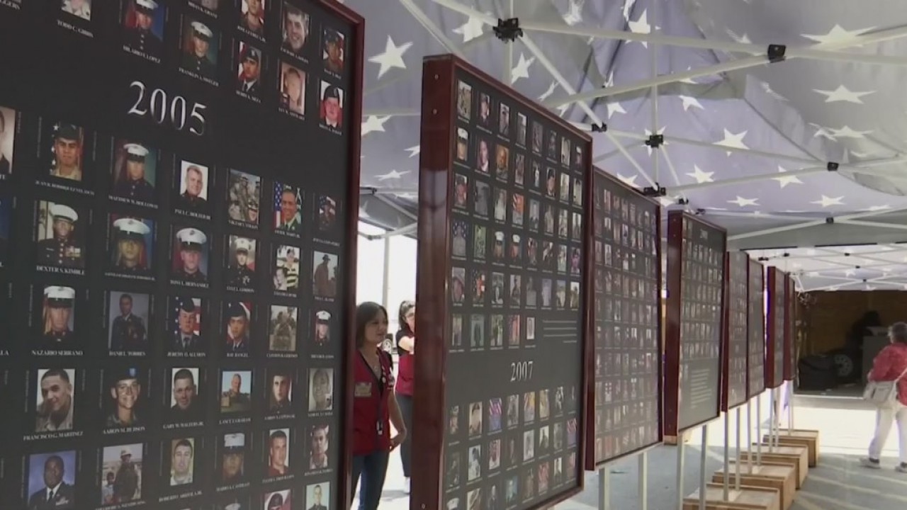Memorial wall arrives to the Borderland for Memorial Day