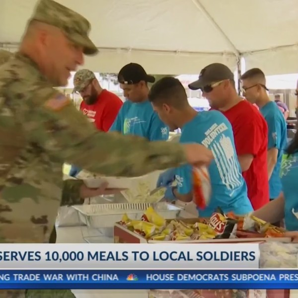 Veteran serves 10,000 meals to local soldiers