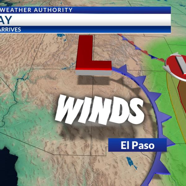 First cold front moves in Tuesday