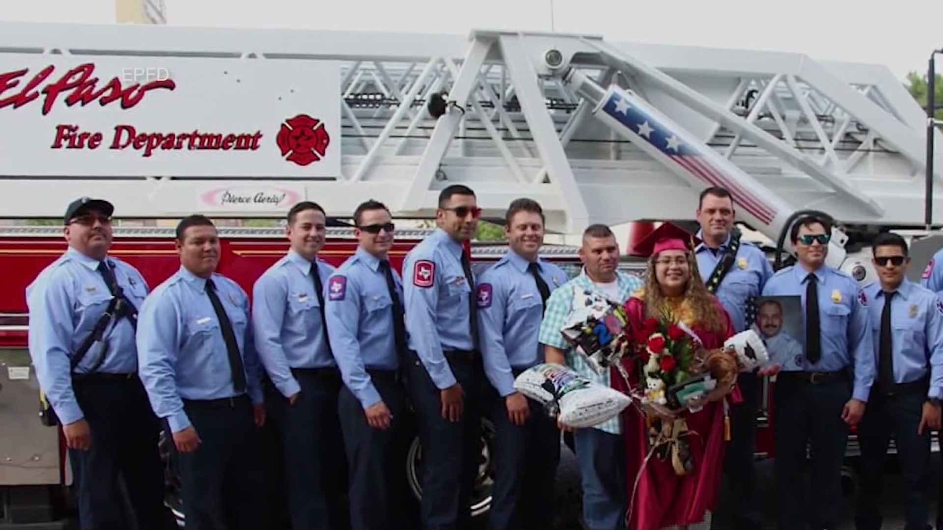 El Paso Fire Department crews attend graduation of late lieutenant's daughter
