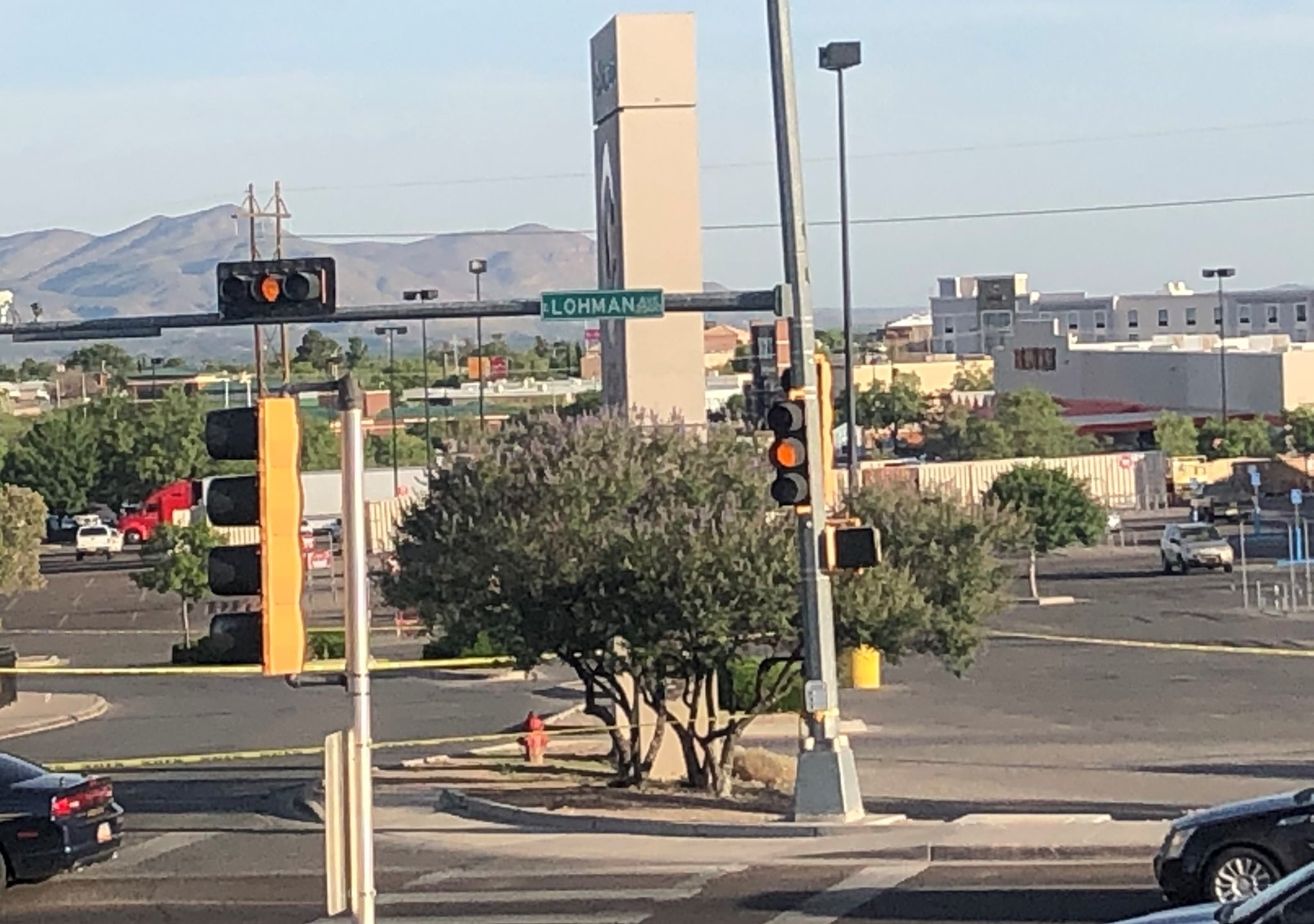 Scene of the Las Cruces shooting