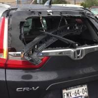 Storm damage in Juarez near Bridge of the Americas