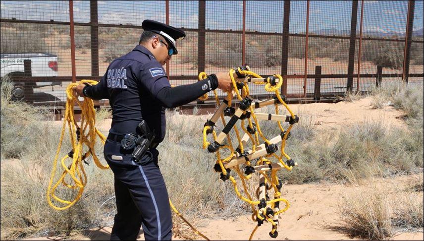 Authorities locate rope ladder near Santa Teresa Border Fence