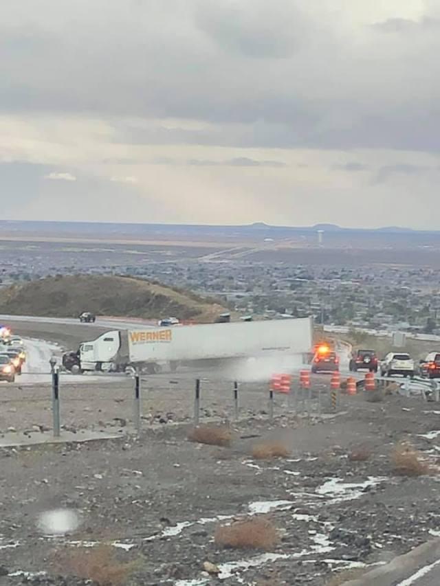 Semi-truck crash reported on Transmountain