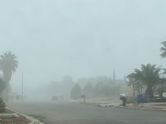 El Pasoans wake up to a foggy morning