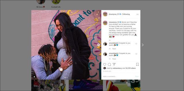 Aaron Jones, girlfriend Crystal Molina expecting first child