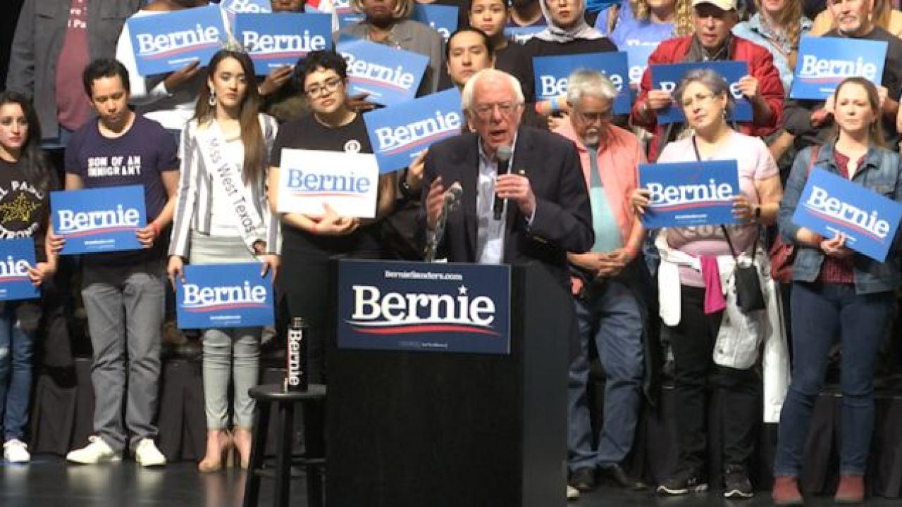 Bernie Sanders speaks to El Pasoans about immigration and gun control