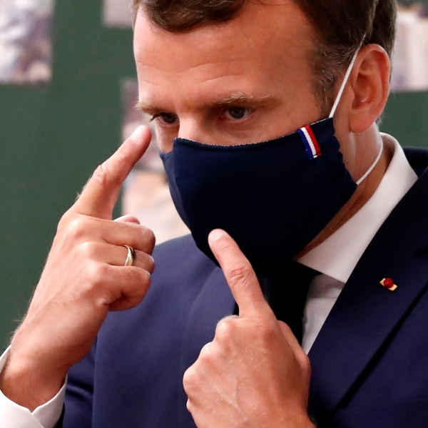 President Macron's visit to a school in Poissy