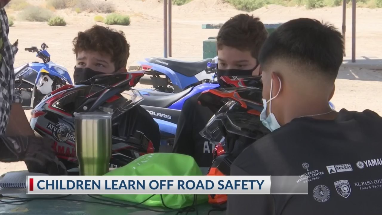 Children learn off road safety