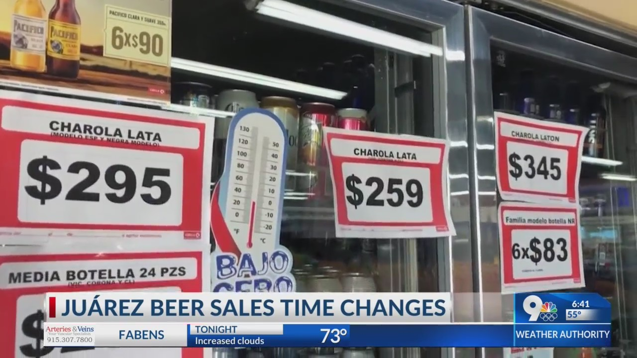 Juarez beer sales
