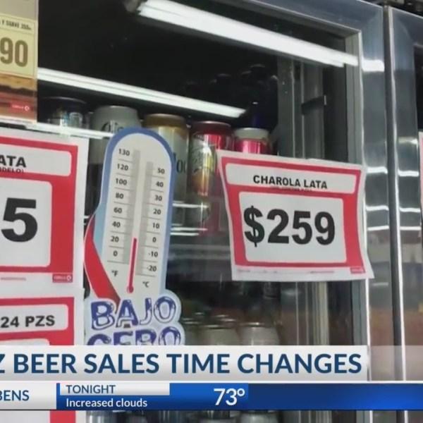 Juarez beer sales