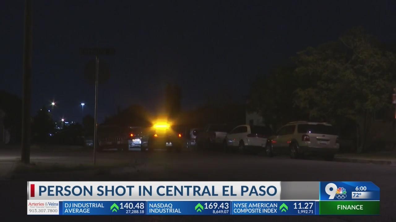 Person shot in Central El Paso
