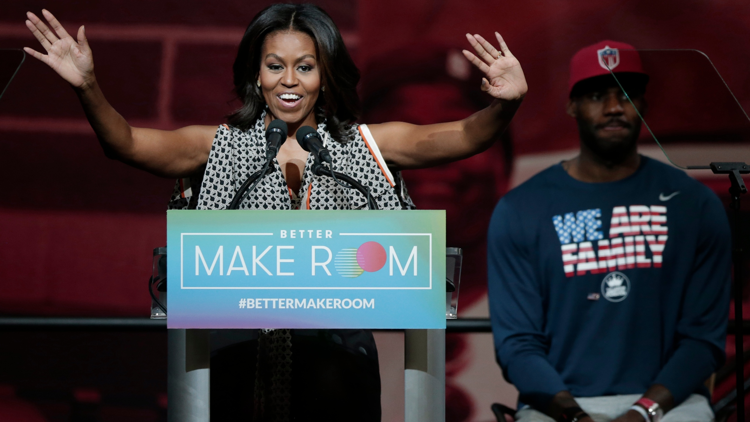 Michelle Obama, LeBron James