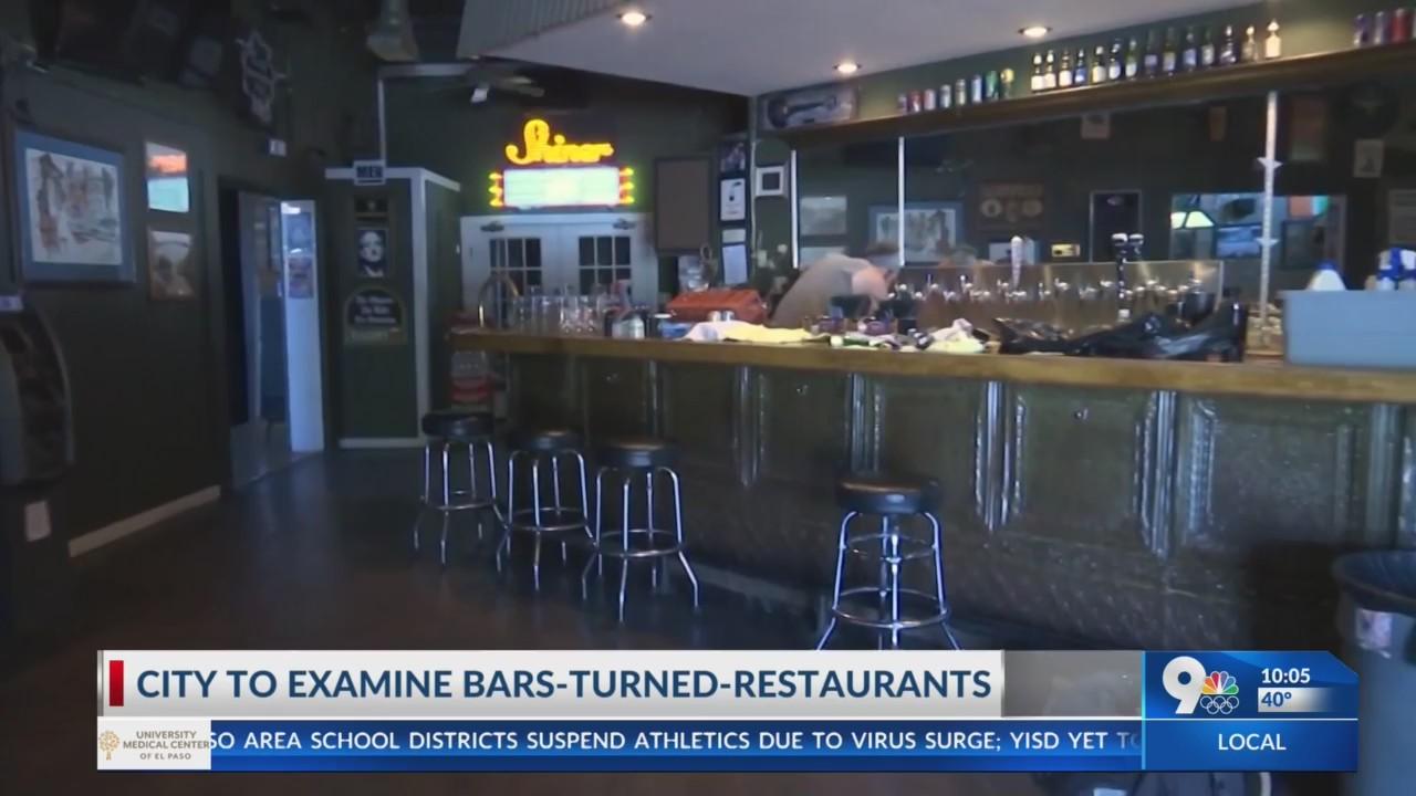 City to examine bars-turned-restaurants