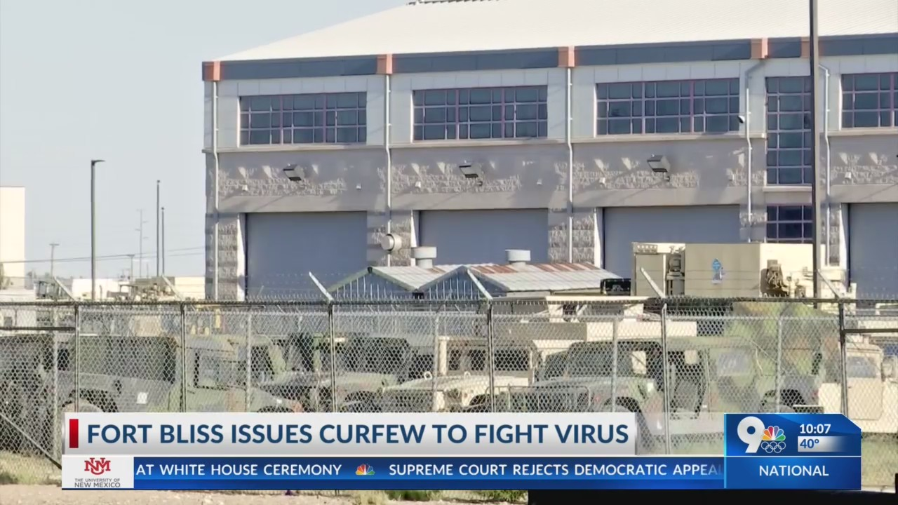 Fort Bliss issues curfew to fight virus