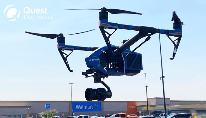 Walmart, Quest Diagnostics, DroneUp drone image
