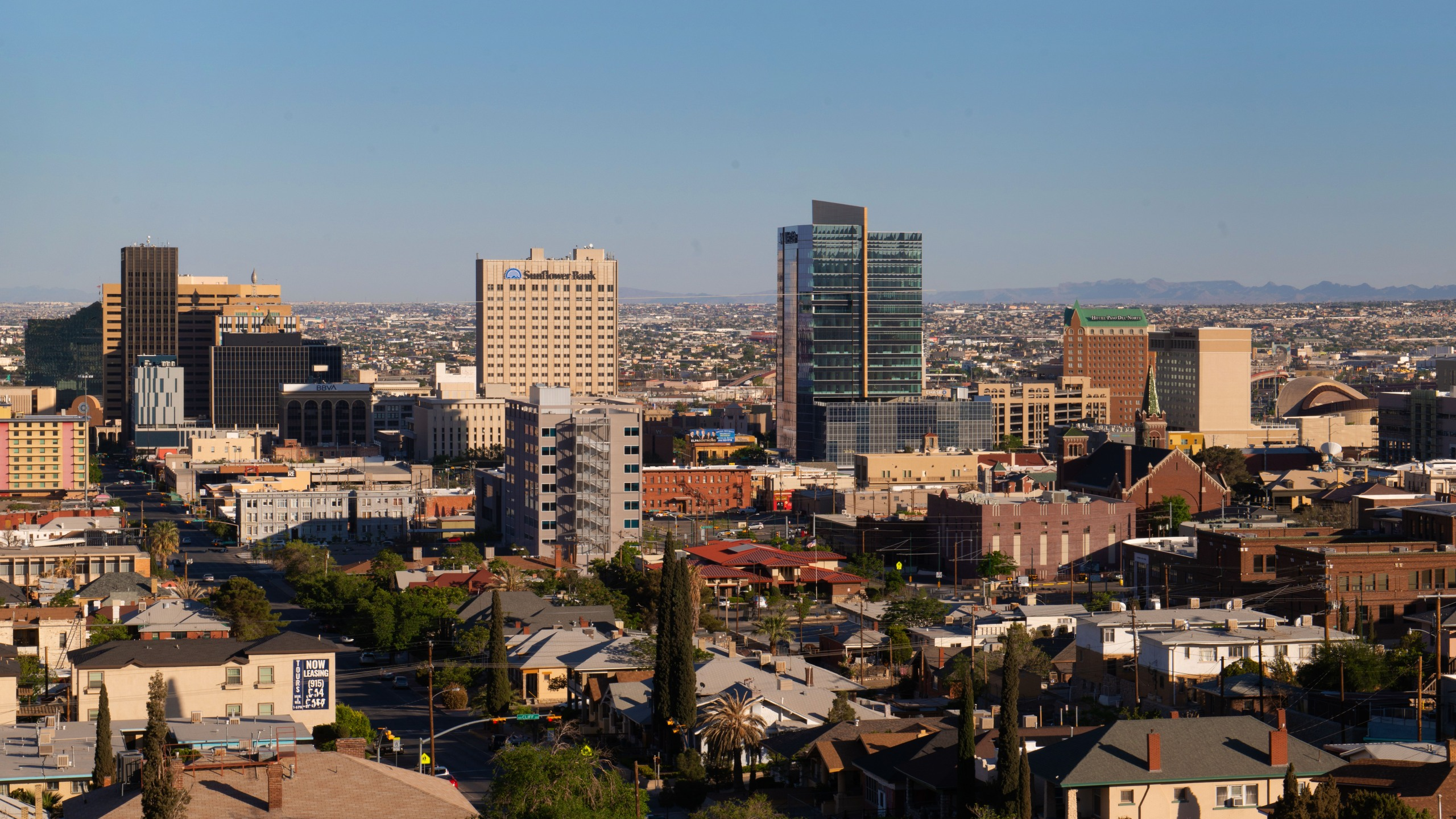 Skyline of the city of El Paso.