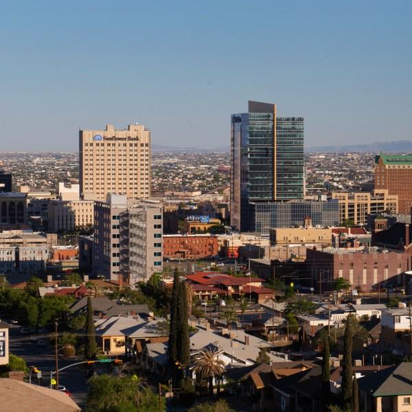 Skyline of the city of El Paso.